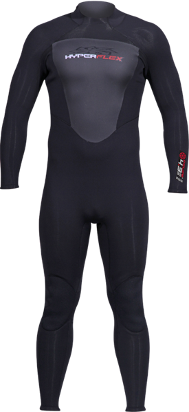 Picture of 3/2MM FLATLOCK CYCLONE2 BLACK BACK ZIP FULL SUIT XS