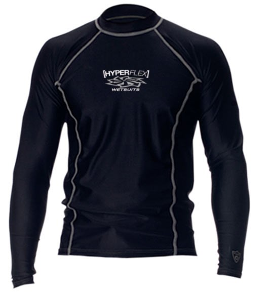 Picture of LOOSE FIT MEN'S LONG SLEEVE RASH GUARD BLACK S