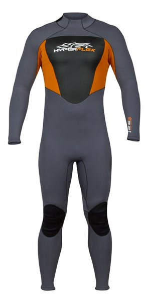 Picture of CYCLONE2 ORANGE BACK ZIP FULL SUIT 3/2MM S